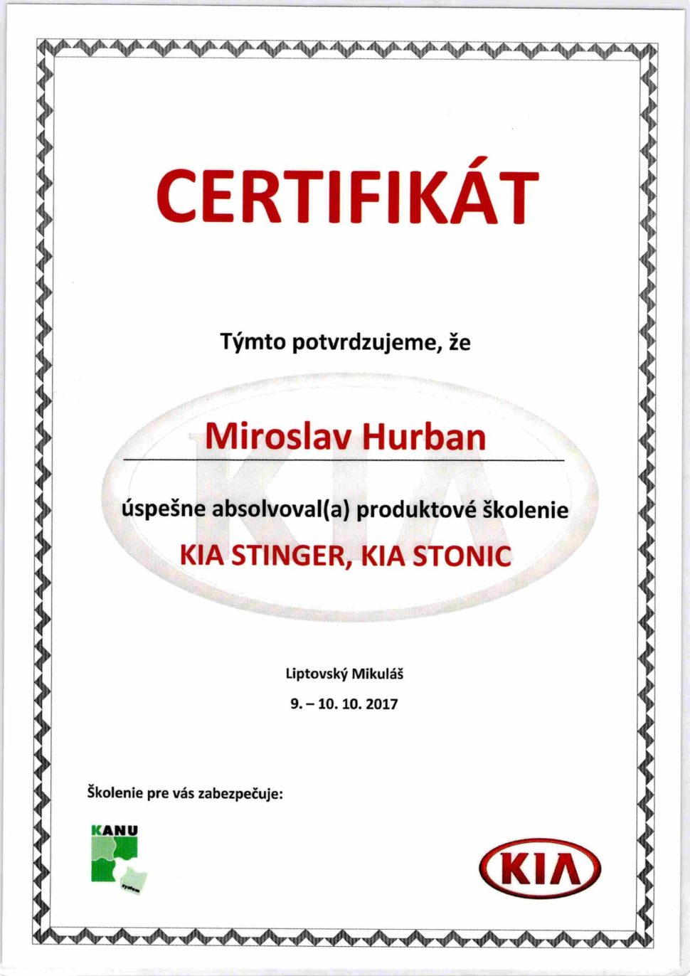 Kia Stinger a Kia Stonic