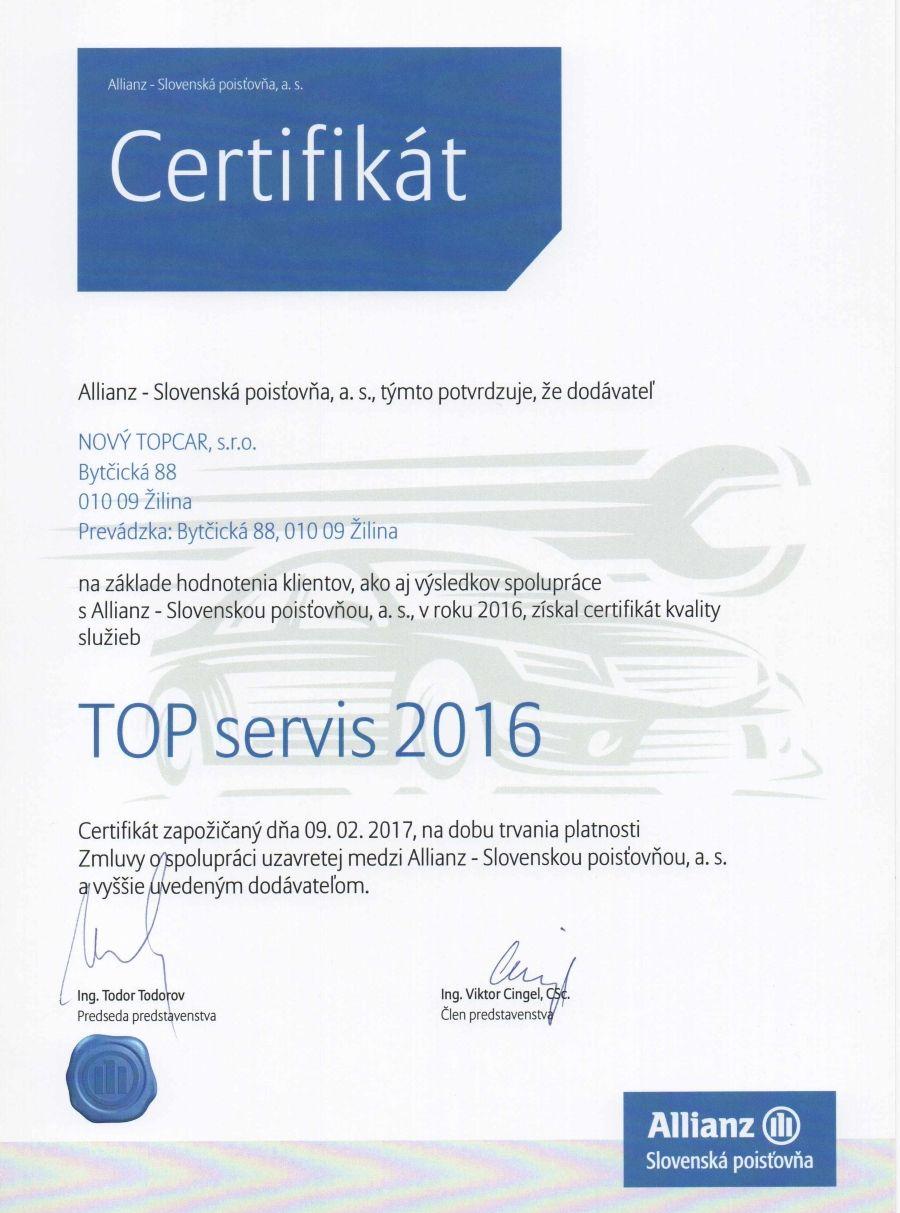 TOP servis 2016