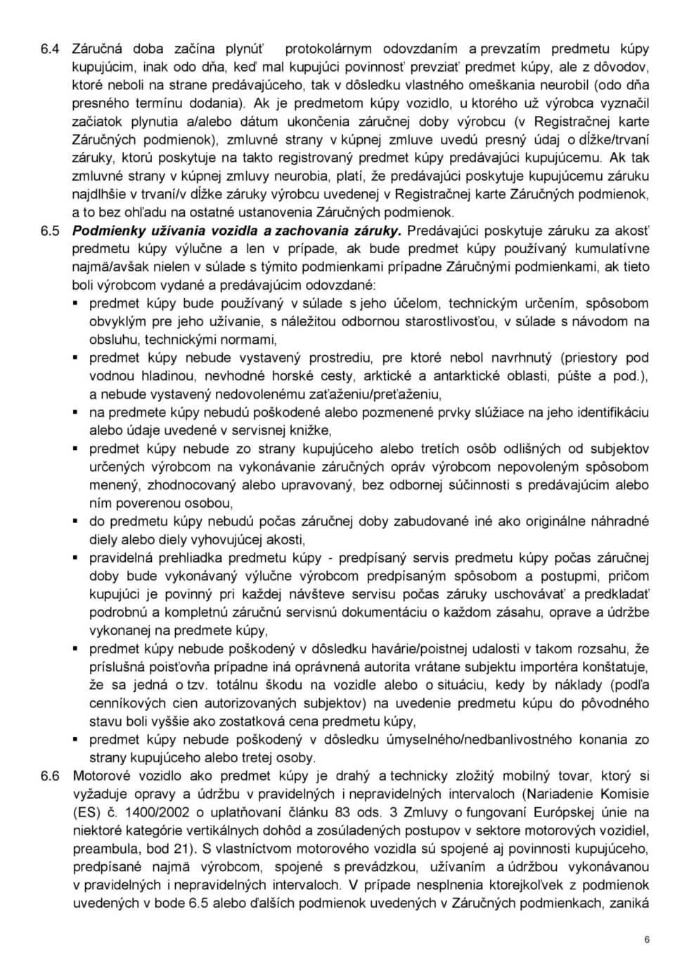 Všeobecné obchodné podmienky str.6