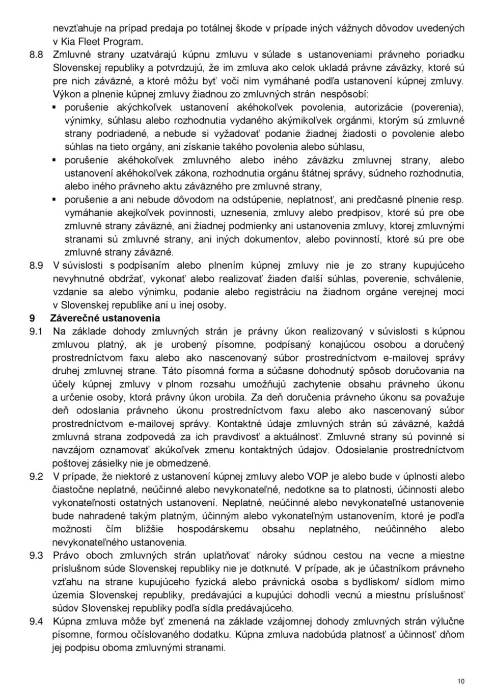 Všeobecné obchodné podmienky str.10