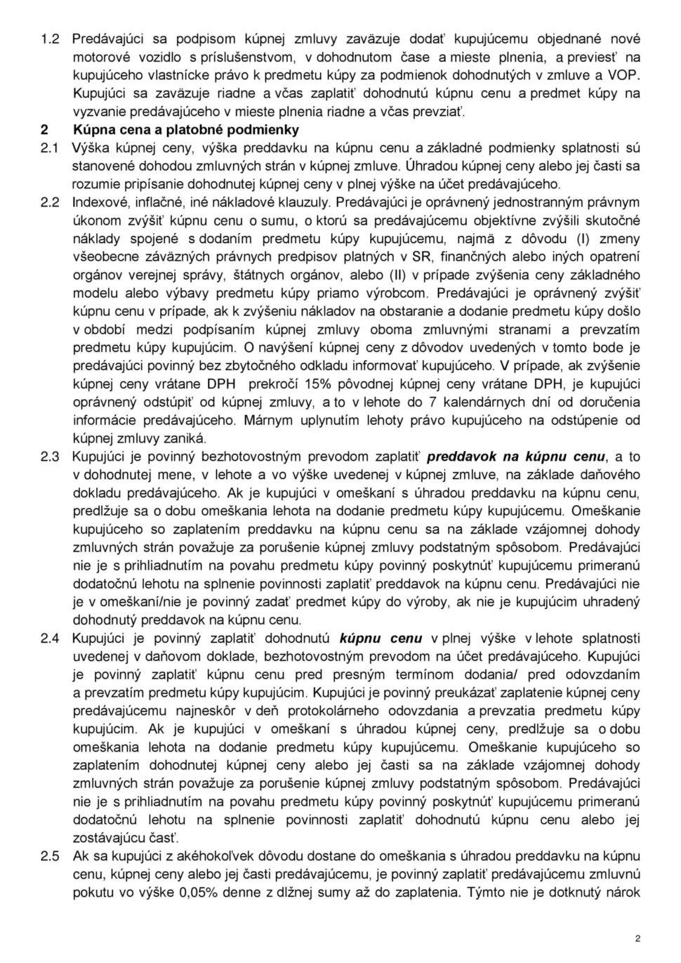 Všeobecné obchodné podmienky str.2