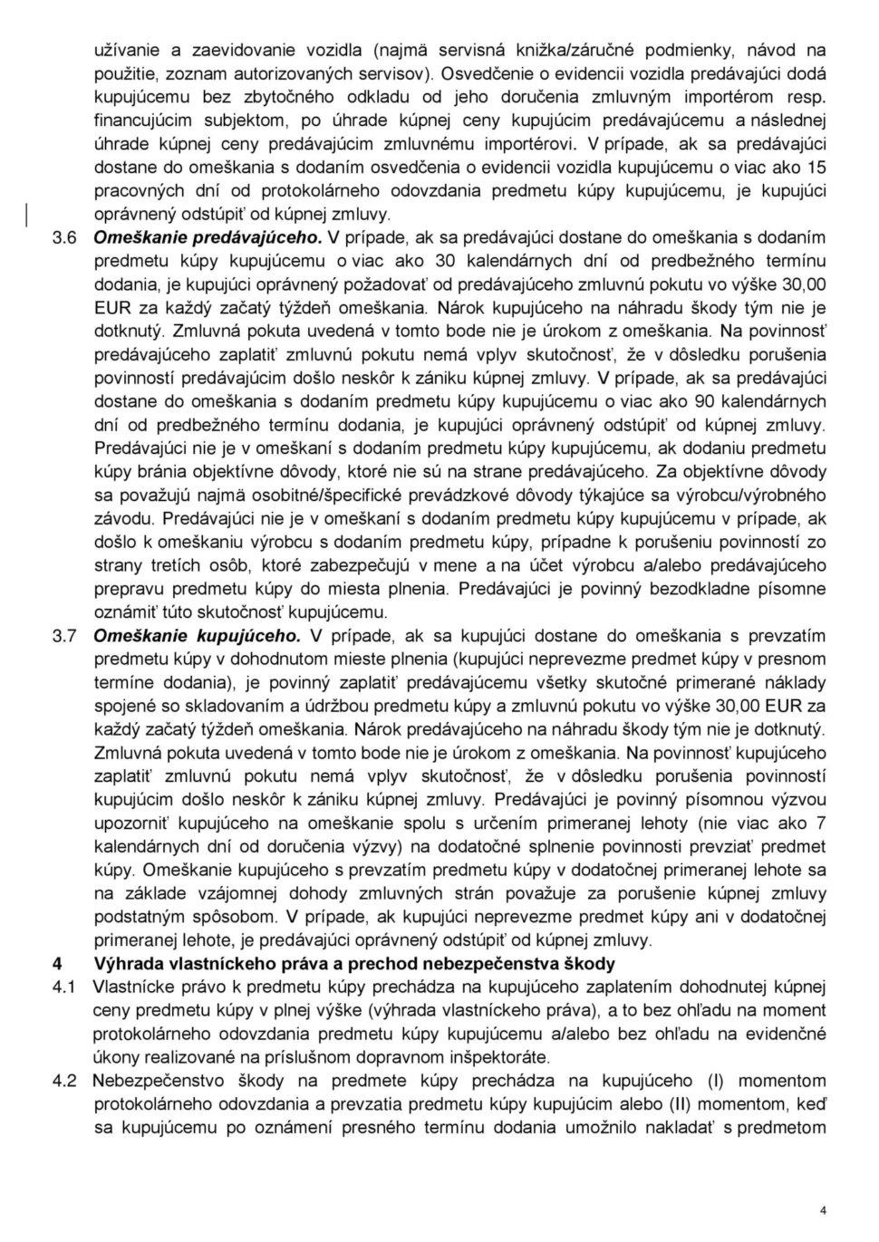 Všeobecné obchodné podmienky str.4