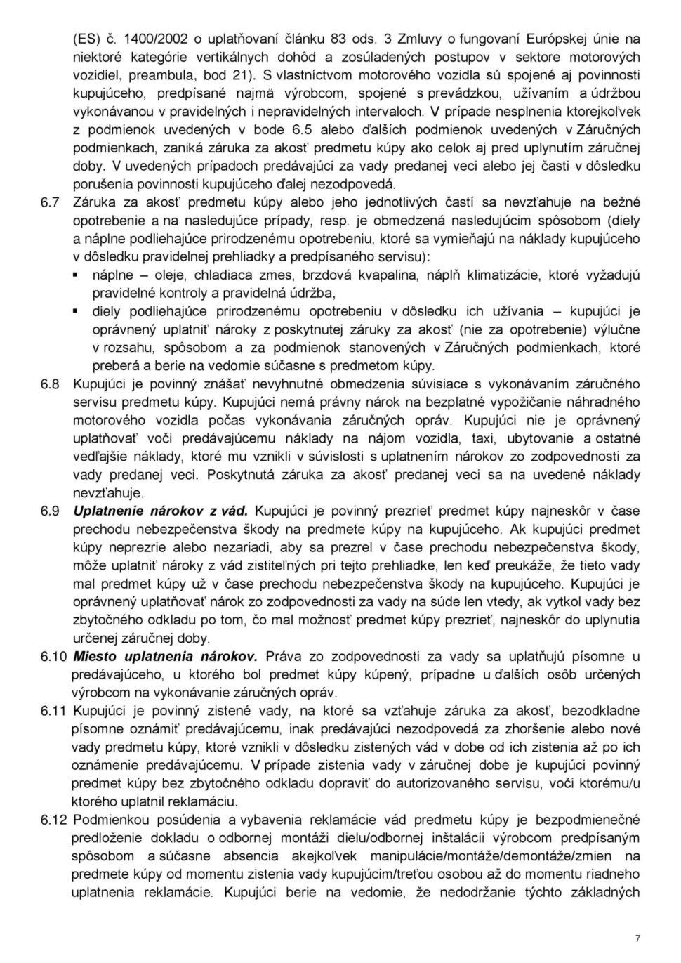 Všeobecné obchodné podmienky str.7