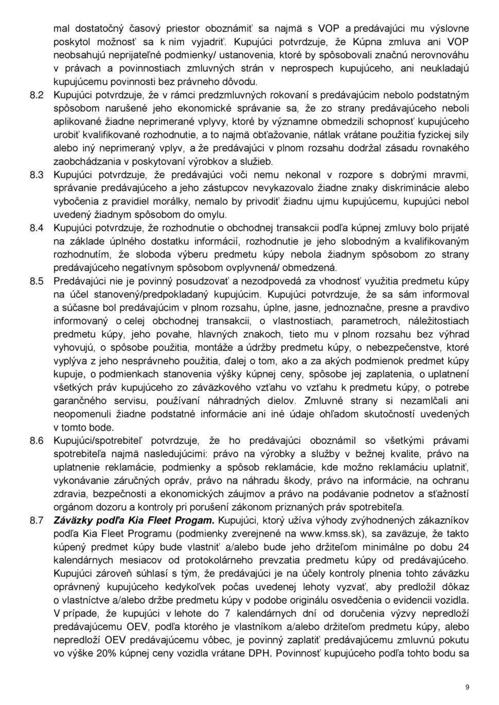 Všeobecné obchodné podmienky str.9