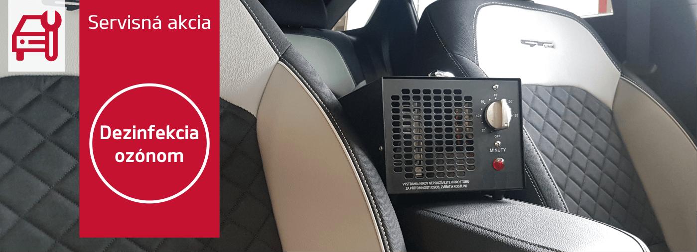 Dezinfekcia vozidla ozónom