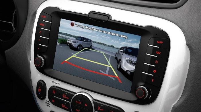Kia Soul EV - parkovacia kamera