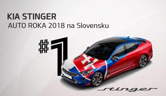 Kia Stinger je víťazom slovenskej ankety Auto roka 2018