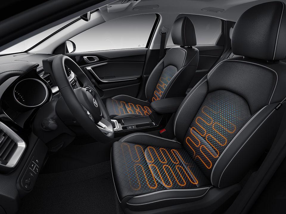 Nová Kia Ceed komfortné sedačky