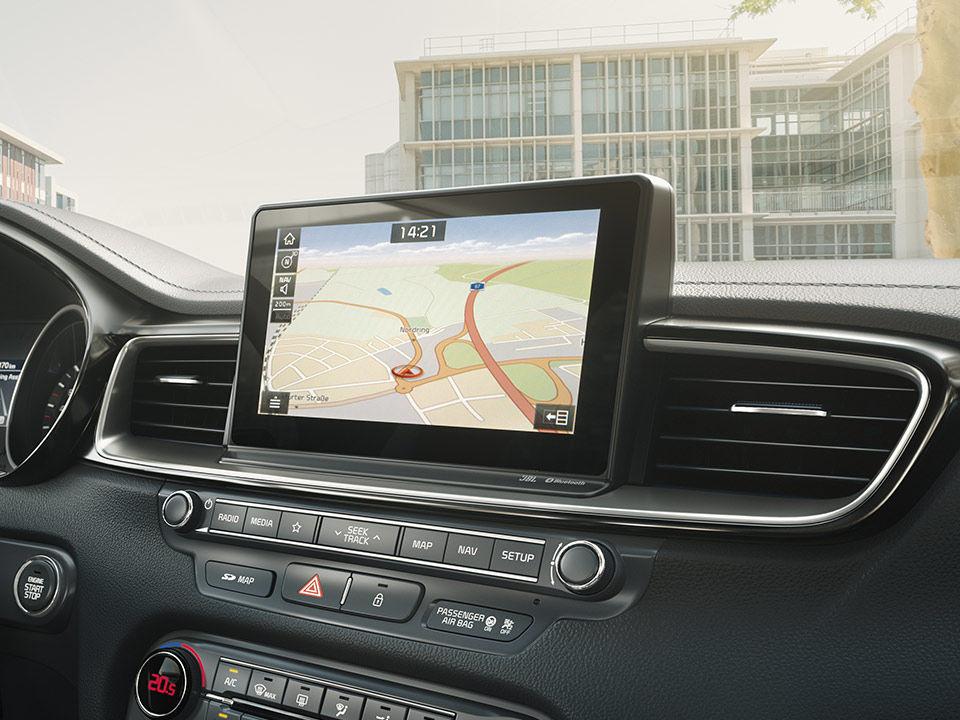 Nová Kia Ceed navigácia