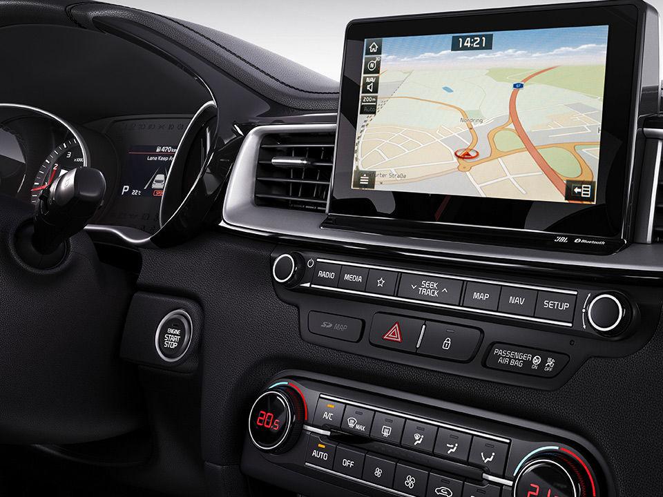Nová Kia ProCeed Navigácia